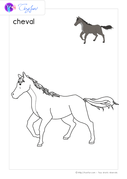animal-ferme-dessin-a-colorier-cheval-coloriage