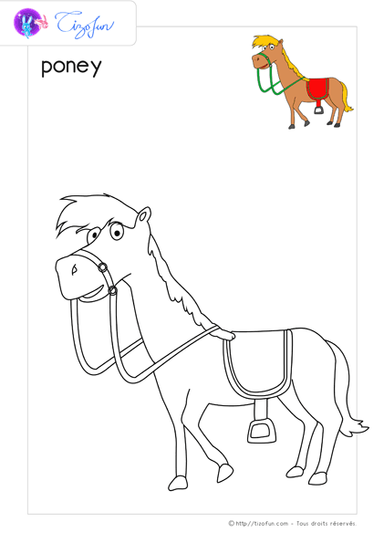 animal-ferme-dessin-a-colorier-poney-coloriage